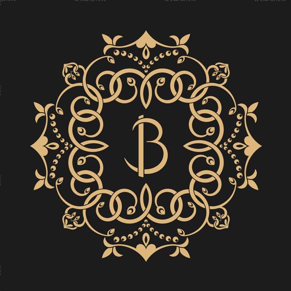 金色花纹,圆形花纹,花纹边框,边框,花边,复古花纹,碎花,抽象,巴洛克