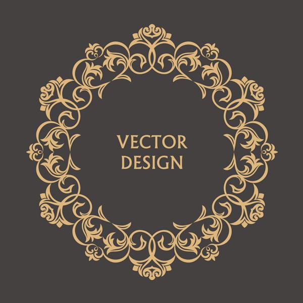 欧式金色圆形卷边花纹矢量素材,金色花纹,圆形花纹,花纹边框,边框,花边,复古花纹,碎花,抽象,巴洛克,优雅,标签,插图,字母,徽章,奢侈,时尚,艺术,装饰花纹,矢量素材,EPS