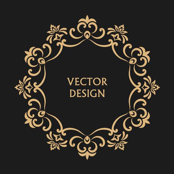抽象,巴洛克,优雅,标签,插图,字母,徽章,奢侈,时尚,艺术,装饰花纹