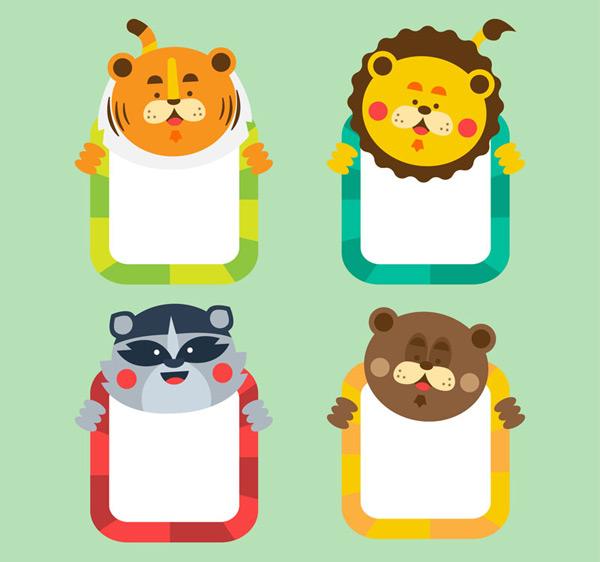 素材分类: 矢量花边所需点数: 0 点 关键词: 可爱动物边框矢量素材