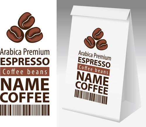 矢量图,设计素材,创意设计,包装设计,包装袋,咖啡包装,咖啡豆,复古