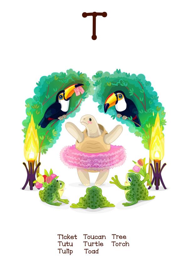 动物,野生动物,卡通,可爱,卡片,插图,学习,拼写,图画,图案,阅读,单词