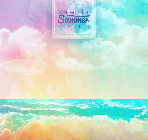 大海沙滩风景背景_素材中国sccnn.com