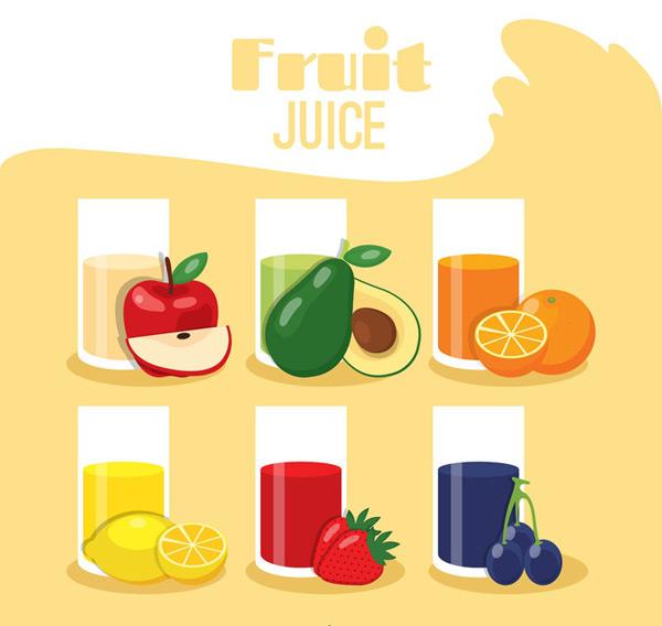 水果果汁矢量_素材中国sccnn.com
