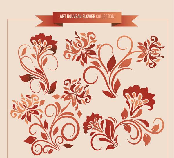 新艺术风格花卉