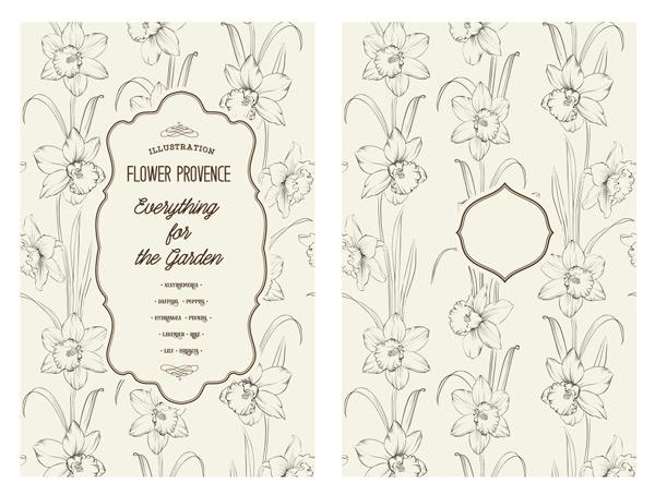 花束,花枝,花纹,植物,花卉,鲜花,线条,手绘,边框,标签,欧式,复古,艺术