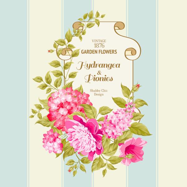 花卉,边框,简约,花朵边框,手绘,艺术风格,背景,庆祝,节日,活动,创意