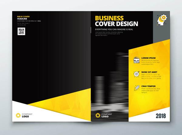 黑黄色宣传册封面图片
