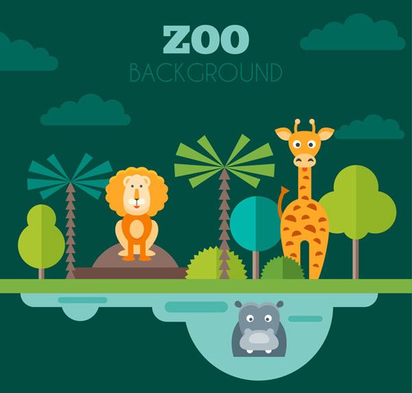 素材分类: 矢量野生动物所需点数: 0 点 关键词: 3只扁平化动物园