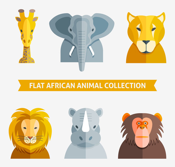素材分类: 矢量野生动物所需点数: 0 点 关键词: 6款扁平化非洲动物