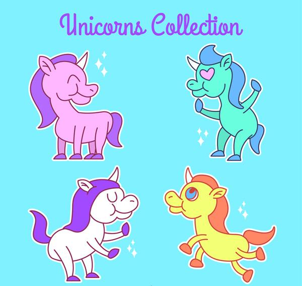 素材分类: 矢量卡通动物所需点数: 0 点 关键词: 创意独角兽设计矢量