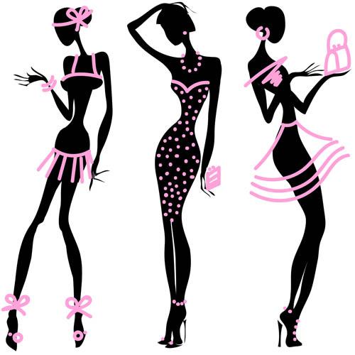 矢量素材,矢量图,设计素材,创意设计,人物,黑白,美女模特,礼服,头纱