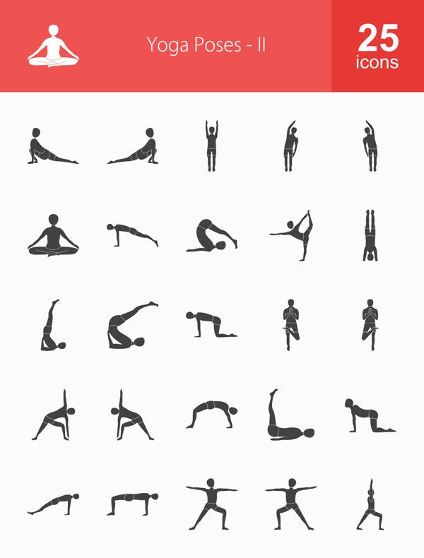 素材分类: 其它所需点数: 0 点 关键词: 25款瑜伽动作人物剪影矢量
