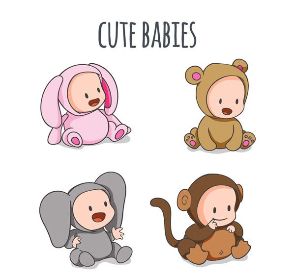 爱动物装婴儿