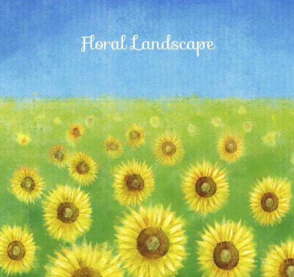 关键词: 水彩绘向日葵花丛矢量素材,葵花,风景,向日葵,花丛,花卉,水彩