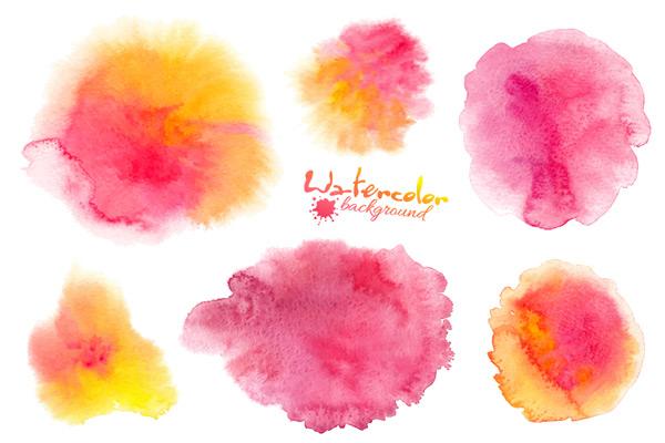 0 点 关键词: 唯美水彩渐变晕染矢量素材,粉色水彩,水彩渐变,水粉