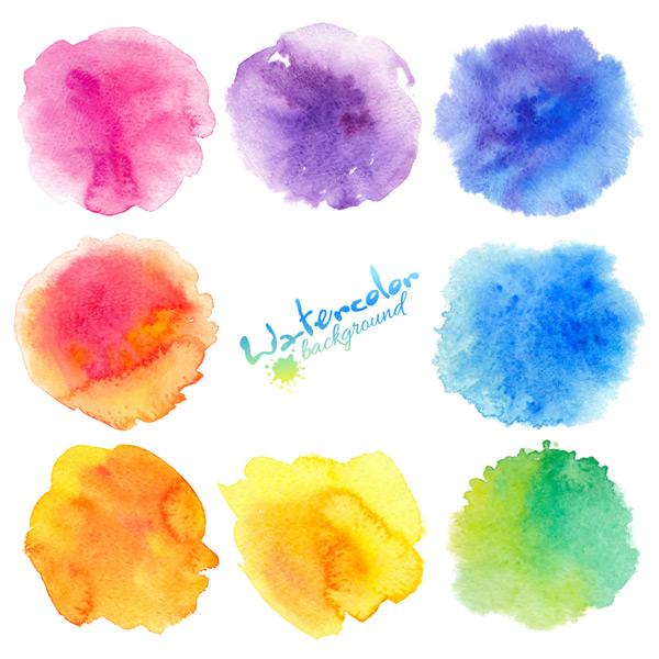 0 点 关键词: 多款彩色水粉晕染集合矢量素材,绚丽水彩,水彩渐变,水粉