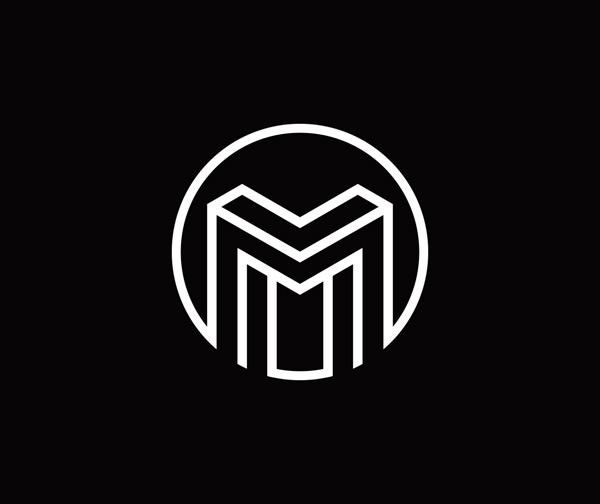 线条字母logo