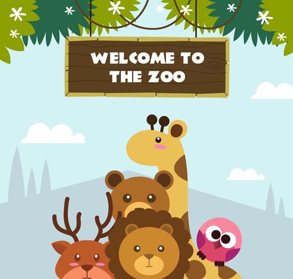 动物园动物设计