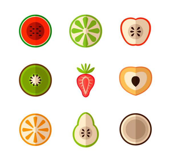 0 点 关键词: 9款彩色水果切面矢量素材,西瓜,青柠,苹果,猕猴桃,草莓