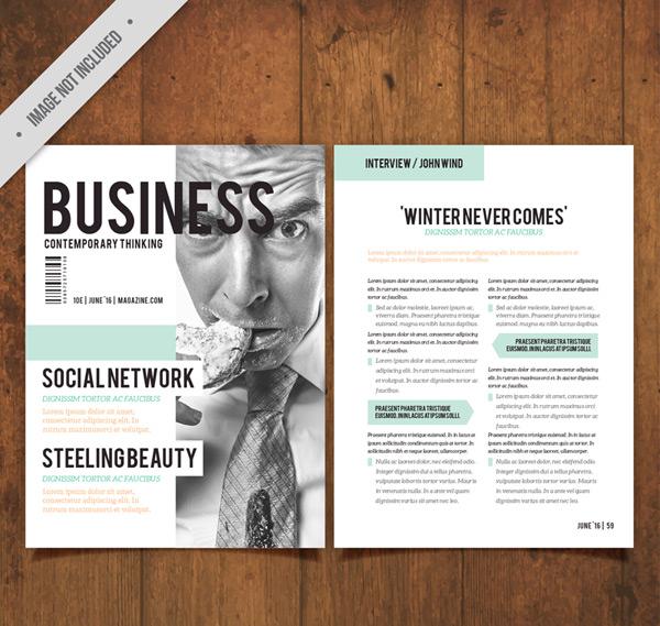 商务杂志单页