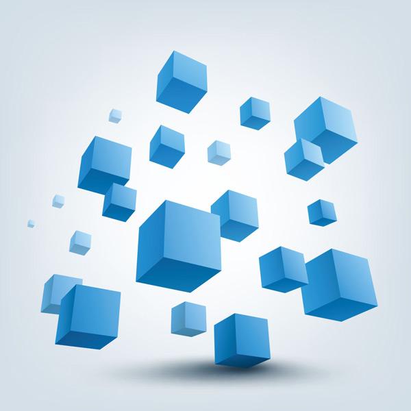 关键词: 蓝色创意3d方块矢量素材,蓝色方块,立体方块,集合,现代,图形