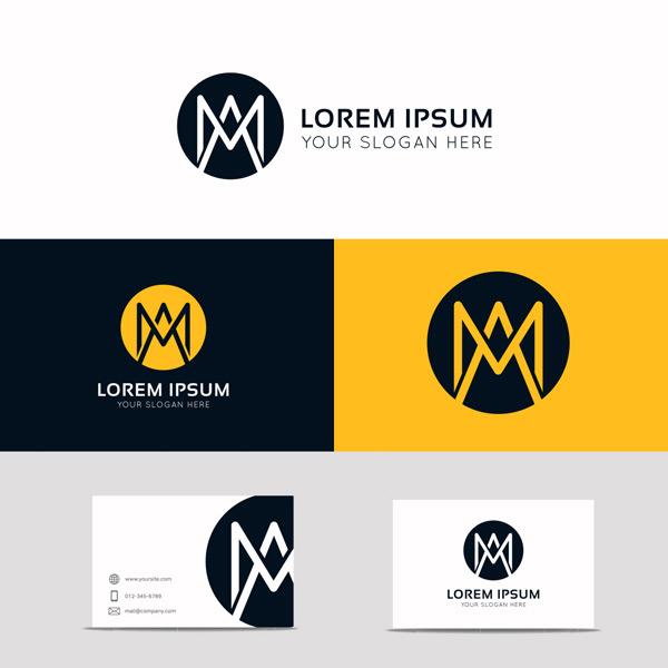 简约名片logo