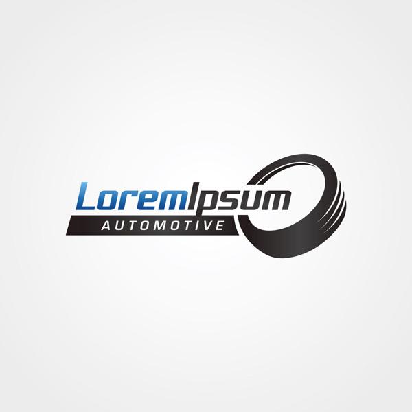 立体黑色logo图片