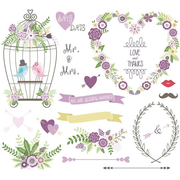 素材分类: 其它所需点数: 0 点 关键词: 清新紫色花朵边框鸟笼矢量