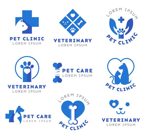猫,爱心,骨头,脚印,手,狗,宠物,宠物医院,标志,矢量图,ai格式 下载