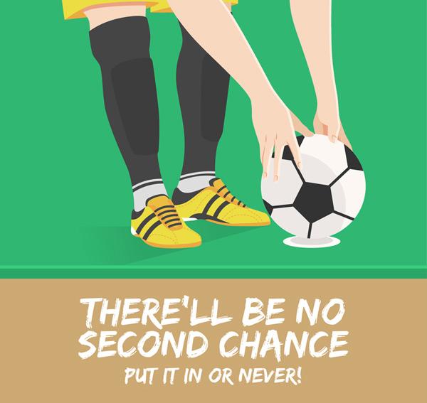 脚和足球插画