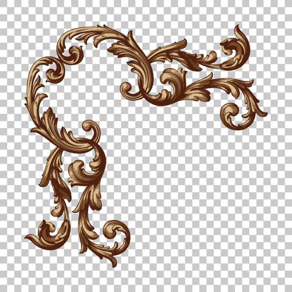 复古边角花纹边框矢量素材,蔓藤花纹,巴洛克式,雕刻,边角,装饰,优雅