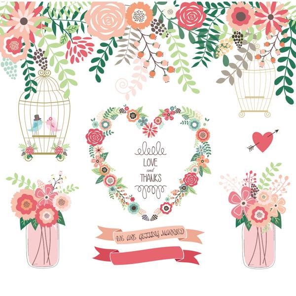 手绘花纹边框花卉