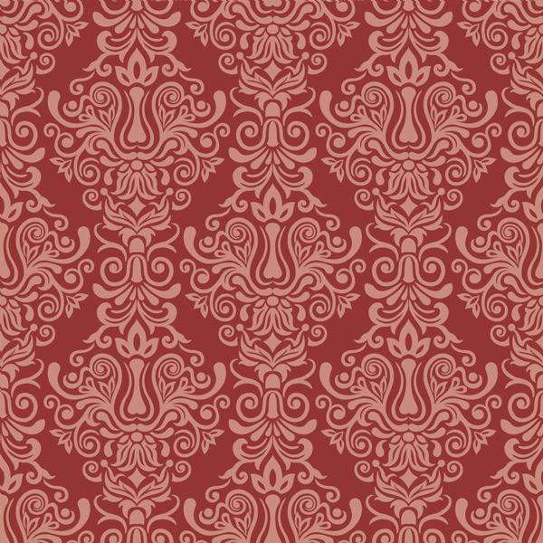 0 点 关键词: 红色复古欧式花纹无缝背景矢量素材,欧式风格,卷曲