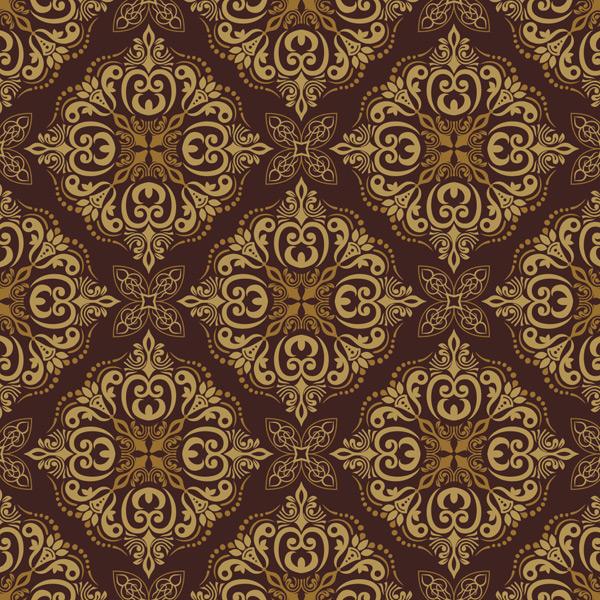 金色菱形花纹背景