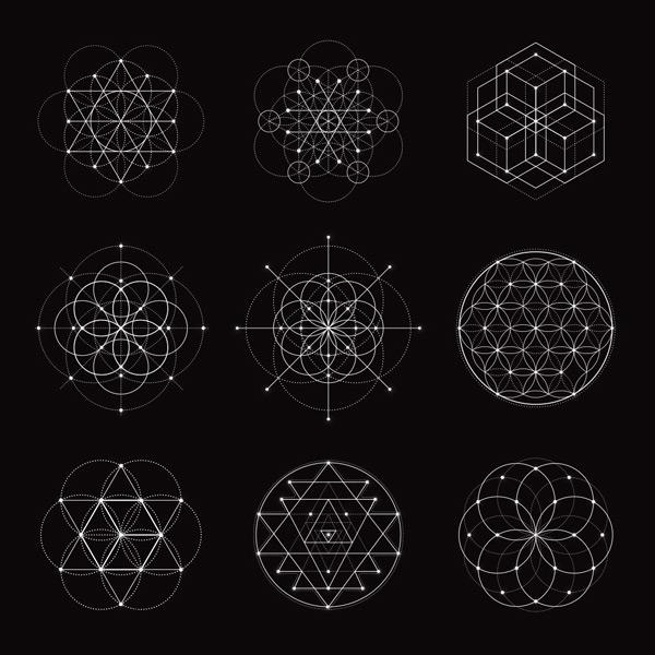 简约几何线性花纹