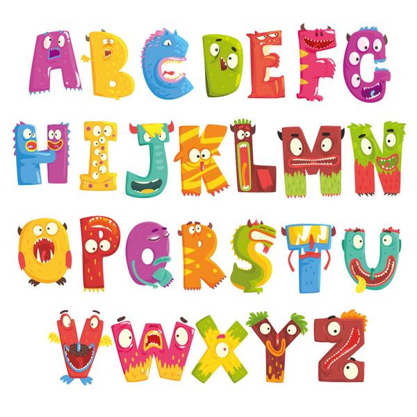 素材分类: 其它所需点数: 0 点 关键词: 多彩可爱卡通字母形象矢量