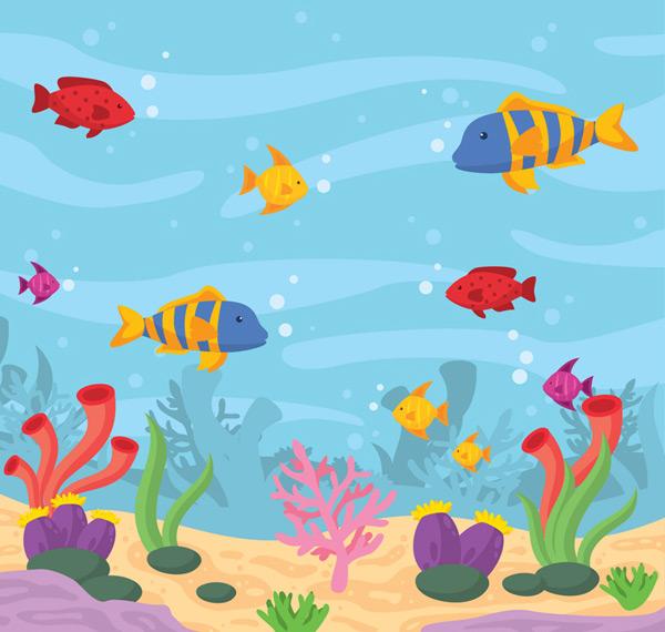 彩色海底世界