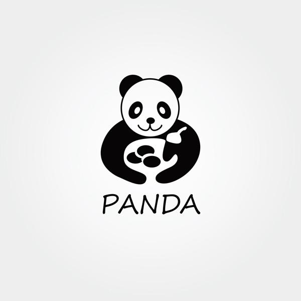 大熊猫logo图片