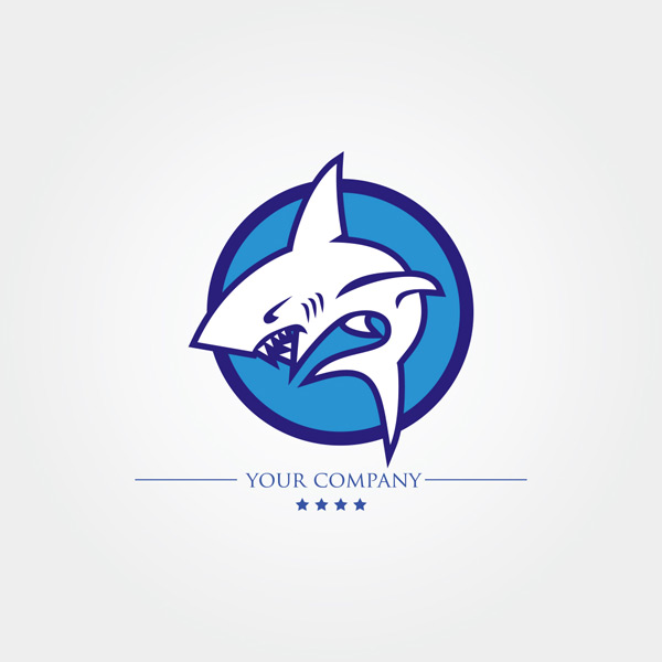 素材分类: 效果图所需点数: 0 点 关键词: 创意蓝色鲨鱼logo矢量素材