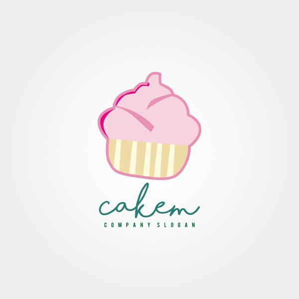 粉红色logo,冰淇淋,甜品店logo,食品logo,创意logo,行业logo,标志设计