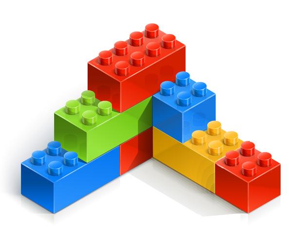 彩色拼装玩具