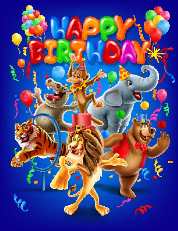 动物,背景,气球,条幅,熊,生日,卡通,庆祝,庆典,开朗,装饰,大象,娱乐