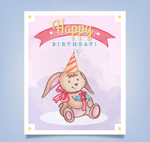 兔子生日贺卡