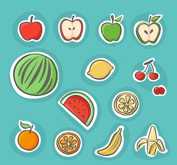 14款彩绘水果