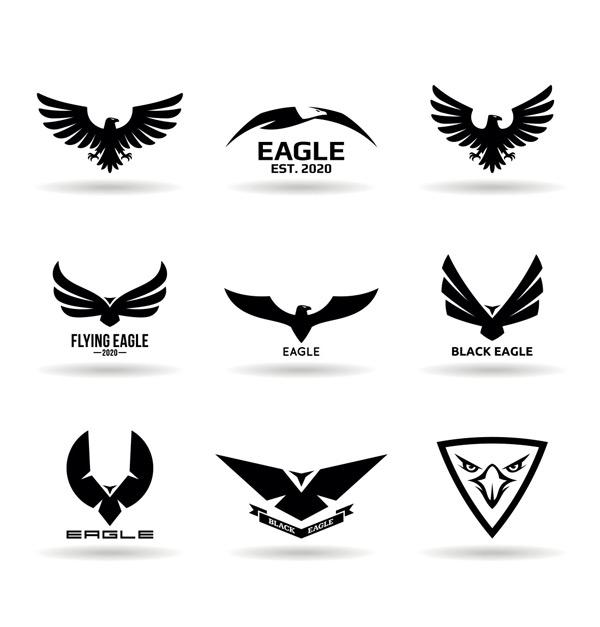 0 点 关键词: 黑色抽象老鹰标志矢量素材,鸟,猎鹰,黑色,剪影,发光