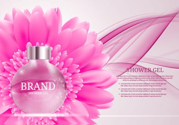 玻璃瓶香水广告