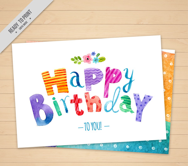 可爱生日祝福卡