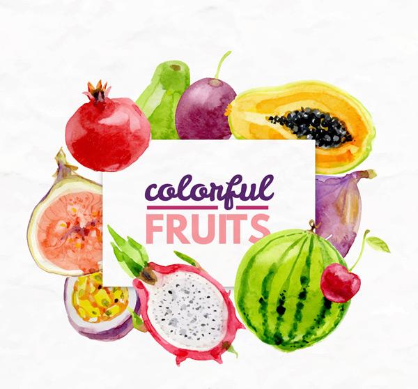 彩色新鲜水果