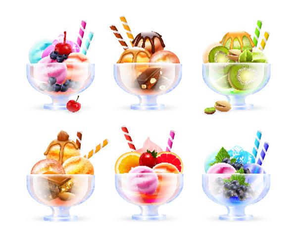 玻璃杯,雪糕,冰淇淋,巧克力,水果,奶油,多彩,漂亮,融化,美食,甜品